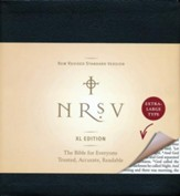 NRSV Bible XL, Black Imitation Leather  - Slightly Imperfect