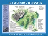 Palm Sunday To Easter, Laminated Wall Chart