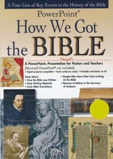 How We Got the Bible: PowerPoint CD-ROM