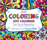 2017 Posh Coloring Day To Day Calendar