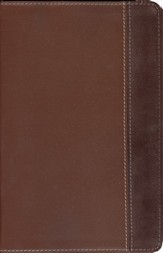 NIV New Women's Devotional Bible, Compact, Renaissance Fine Leather, Rich Brown/Espresso - Slightly Imperfect