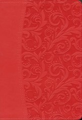 NIV Quest Study Bible: The Question and Answer Bible, Imitation Leather, Coral - Slightly Imperfect
