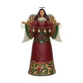 Heartwood Creek, Red and Green Angel Figure with Bells