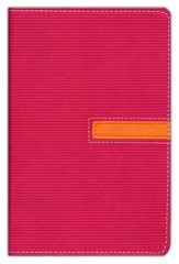 NIV Compact Thinline Bible, Pink/Clementine Duo-Tone