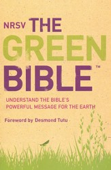 NRSV, The Green Bible, Softcover - Slightly Imperfect