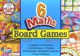 Math Board Games, Set of 6, Grades  4-5
