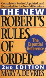 The New Robert's Rules of Order, Revised