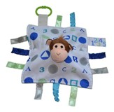 Monkey, ABC Lovey Tag Blankie