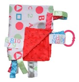 ABC Lovey Tag Blankie, Pink, Blue, Green