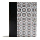CSB Legacy Notetaking Bible--imitation leather Spanish tile over board