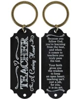 Teacher, A Caring Heart Keyring