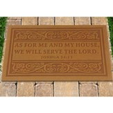 Door Mat, As for Me and My House,  Tan
