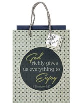 God Richly Gives Gift Bag, Medium