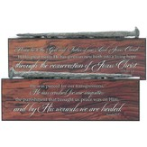 Nail Double-Sided Tabletop Plaque