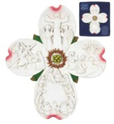 Dogwood Blossom Cross Figurine