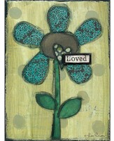 Loved Flower Wall Plaque