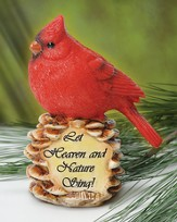 Let Heaven and Nature Sing--Cardinal Figurine