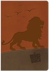 The NKJV Big Picture Interactive Bible--soft leather-look, brown with lion