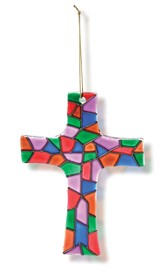 Stained Glass Cross Ornament