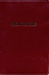 KJV Giant Print Handy Size Bible, Bonded leather, Burgundy