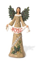 Holly Angel With Noel Banner