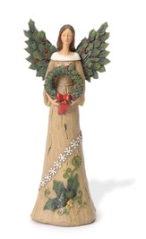 Holly Angel With Wreath