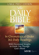 The Daily Bible: In Chronological Order 365 Daily   Readings, Large Print