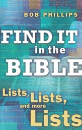 Find It in the Bible: Lists, Lists, and Lists - eBook