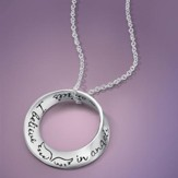 I Believe In Angels, Sterling Silver Mini Mobius  Necklace (.75 diameter)