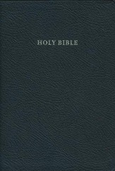 KJV Standard Text Bible, French Morocco leather, black
