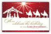 Celebrate the Birthday of Jesus Christ Box of 20 Christmas Cards