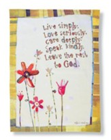 Live Simply, Love Seriously, Dish Towel