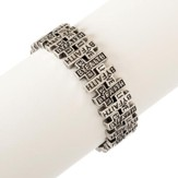 Live By Faith Stretch Bracelet,Silver