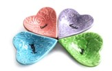 Set of 4 Heart Trinket Dishes
