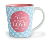 Home Is Where Love Resides, Stoneware Mug