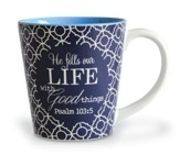 He Fills Our Life With Good Things, Stoneware Mug