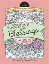 Color Your Blessings: An Adult Coloring Book for Your Soul - Slightly Imperfect