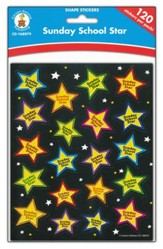 Sunday School Star Shape Stickers