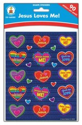 Jesus Loves Me Shape Stickers