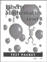 Liberty Mathematics Level B Test  Packet, Grade 2