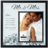 Mr. & Mrs. I Corinthians 13 Frosted Wedding Frame