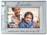 Godmother Photo Frame, Silver