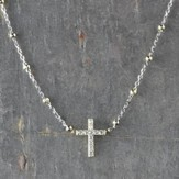 Cross Necklace, Silver