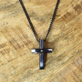 Cross Pendant on Curb Chain