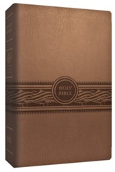 MEV Personal-Size Large-Print Bible-Imitation Leather, Tan