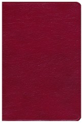 KJV Holman Giant Print Reference Bible,  Burgundy Genuine Leather - Slightly Imperfect