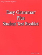 Easy Grammar Plus Test Book  -  Slightly Imperfect