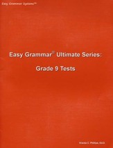 Easy Grammar Ultimate Series: Grade 9 Student Test Booklet