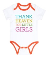 Thank Heaven for Little Girls Romper 3-6 months