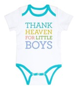 Thank Heaven for Little Boys Romper 3-6 months